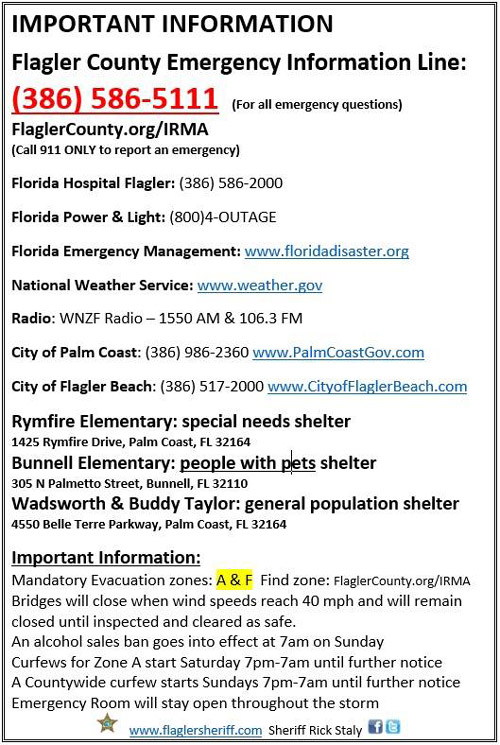 key information hurricane irma
