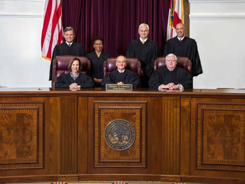 The seven justices of the Florida Supreme Court will see three of their ranks--justices Barbara Pariente, R. Fred Lewis and Peggy Quince--retire.