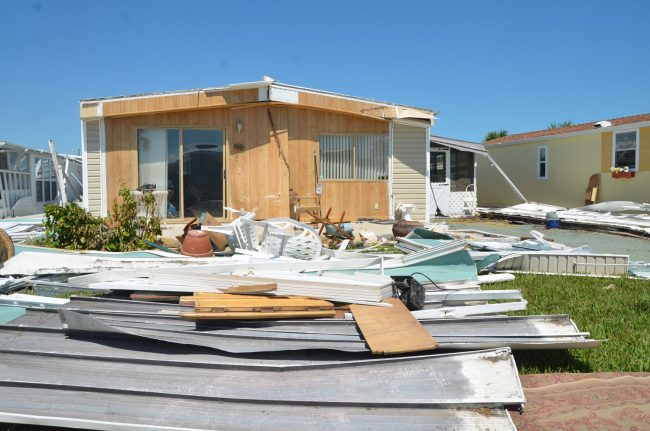 The shredded houses of Surfside Estates. Click on the image for larger view. (c FlaglerLive)
