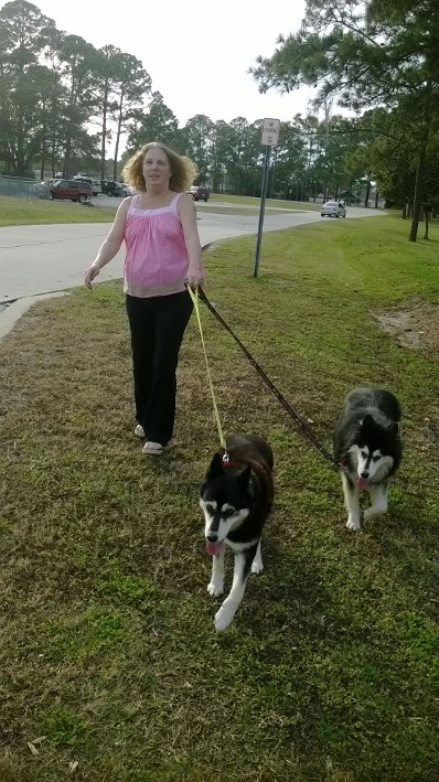 Susan Jones and her huskies. (Susan Jones)
