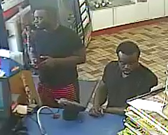 An image from surveillance video of the suspects released by the Sheriff's Office.