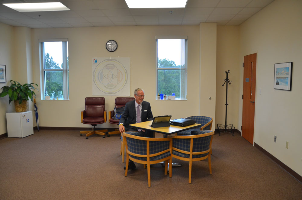 Jim Tager in his early days as superintendent of Flagler schools, three years ago. (© FlaglerLive)