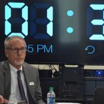 As the clock winds down on Jim Tager's tenure as superintendent, the school board solidified its own timeline for finding a replacement by March 10, though Tager would remain on the job until June. (© FlaglerLive)