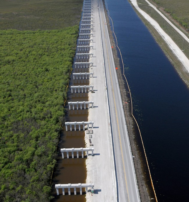 the Everglades Foundation have called 'one of the most prominent dams' blocking the natural flow of the River of Grass. Click on the image for larger view. (JaxStrong)