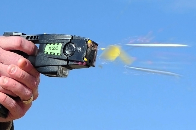 All road deputies and school deputies carry Taser guns, usually the X26 shown above. (Christopher Smythers)