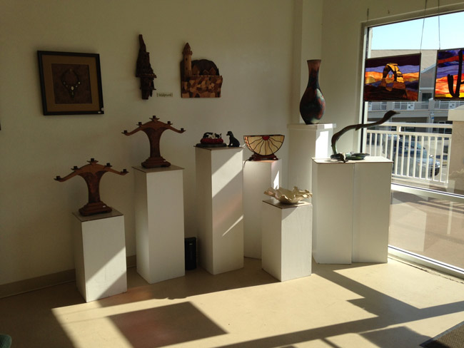The Flagler County Art League's gallery at City Marketplace will be the scene of its 'Art With Wow' show starting at 4 p.m. Saturday, in collaboartion with the Palm Coast Arts Foundation, the Flagler Youth Orchestra and the Flagler Playhouse.