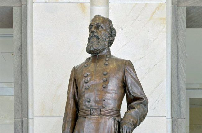 Confederate Gen. Edmund Kirby Smith's bronze statue is headed to a Tavares county-owned building. (NSF)