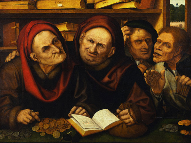 The tax complainers shouldn't have much to complain about. (Quentin Matsys's 'Suppliant Peasants In The Office Of Two Tax Collectors')