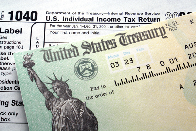 Federal income taxes are near historic lows, tax receipts are at historic lows. (© Regis Learning Solutions)