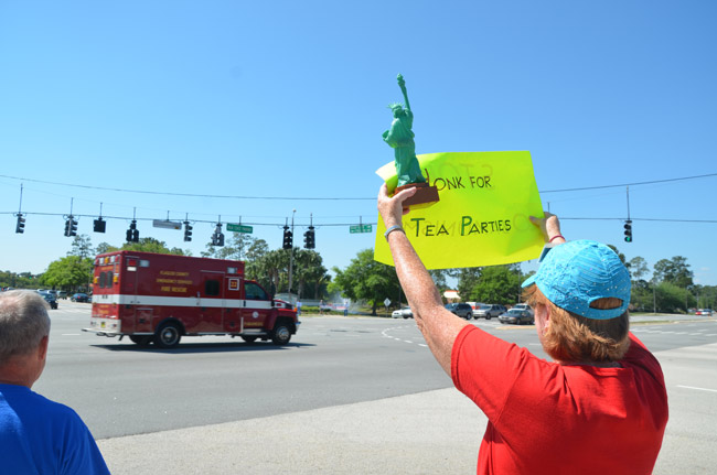 flagler county tea party protest