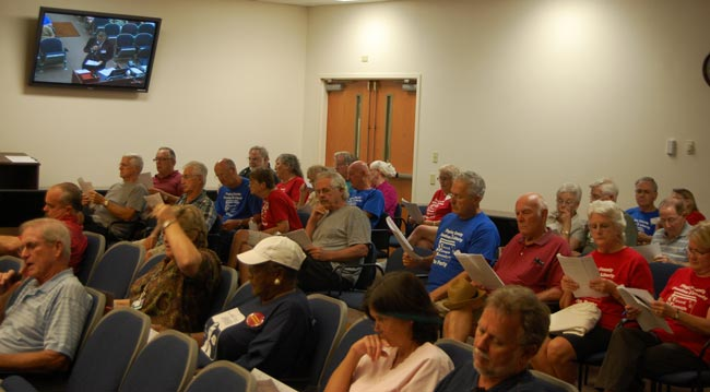 tea party school budget hearing flagler county