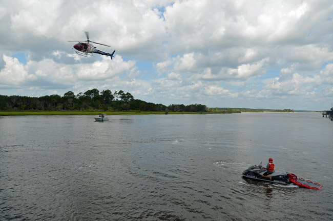 Flagler County Fire Rescue's Technical Rescue Team members put in a combined 30,000 hours of training a year. (© FlaglerLive)