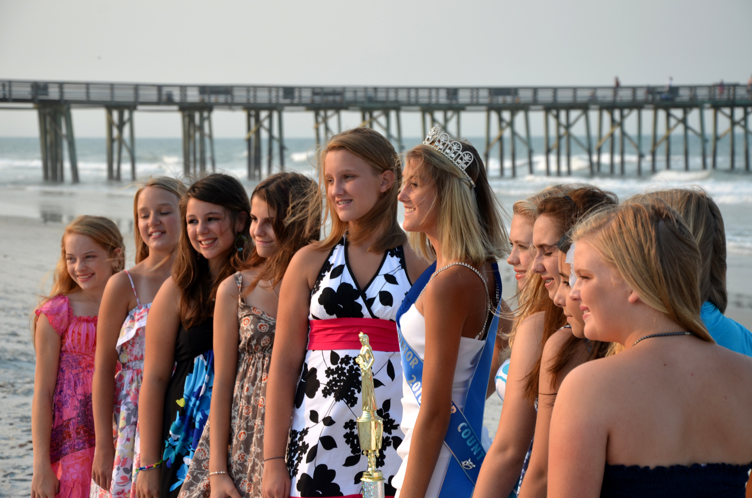 Pier review: The Miss Junior contestants. Click on the image for