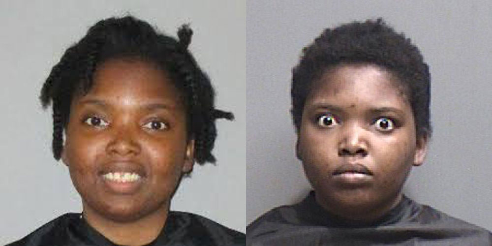 Zarut Jean Pierre-Theolin as she appeared in two booking photos at the Flagler County jail.