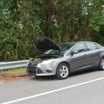 Thomas Brown's Ford Focus as he left it by the side of County Road 305 Monday evening. (FCSO)