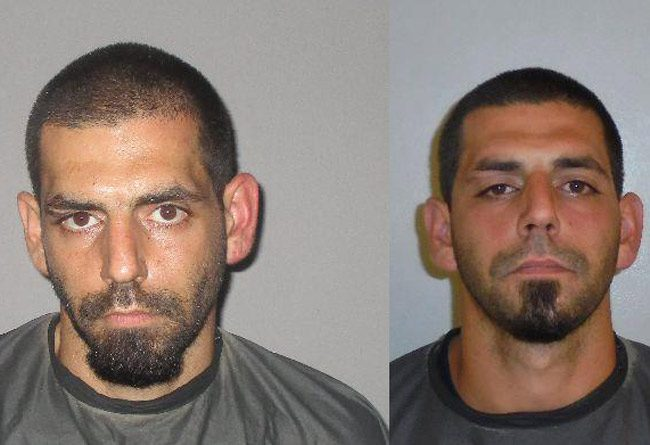 Thomas Rando in his Sunday booking photo at the county jail, left, and in a previous booking. He's had several arrests, on drug and driving charges.