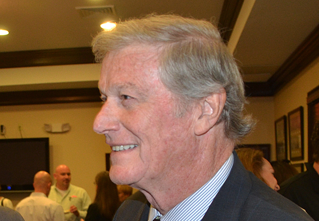 Sen. John Thrasher heard Palm Coast Mayor Jon Netts's request, at least partially. (c FlaglerLive)