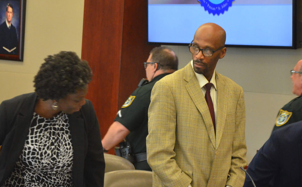 Tonda Royal is accused of unlawful sex with a minor. He's had issues with his assistant public defender, Regina Nunnally. (© FlaglerLive)