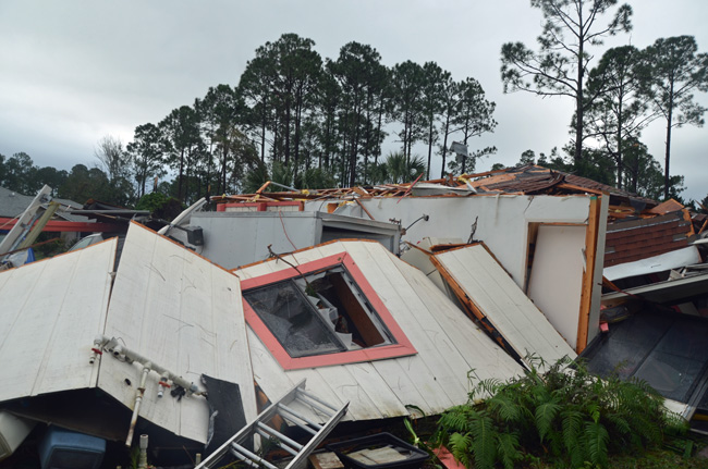 A new study points to a deep gap between Palm Coast resident's awareness of an impending tornado and their willingness to take shelter. (© FlaglerLive)