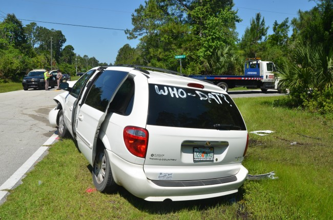 town and country van crash palm coast