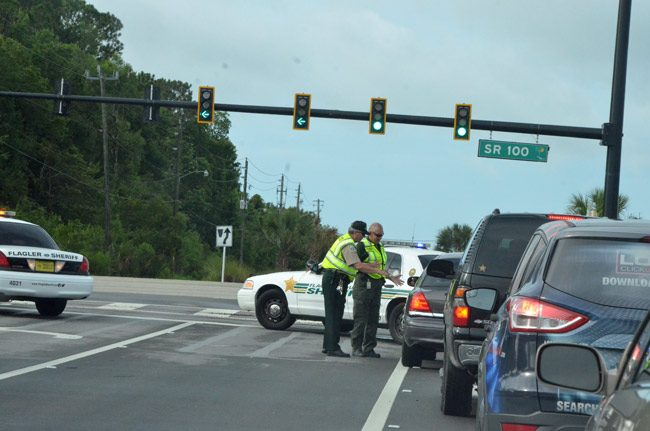 palm coast traffic signals have eyes. (© FlaglerLive)