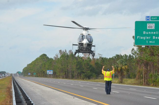 Trauma patients airlifted out of Flagler are typically taken to Halifax Hospital's trauma center in Daytona Beach. Florida Hospital Flagler doesn't have a trauma center and has no immediate plans to angle for one, because the local demographics don;t compel it to do so. (© FlaglerLive)