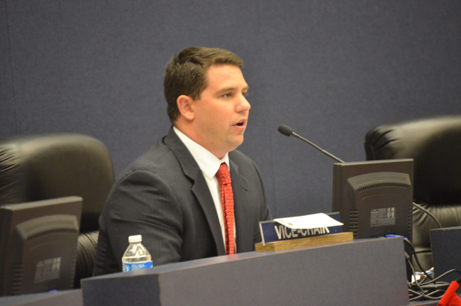 Rep. Travis Huston, whose district includes all of Flagler County, is calling for the repeal of all red-light traffic cameras. (© FlaglerLive)