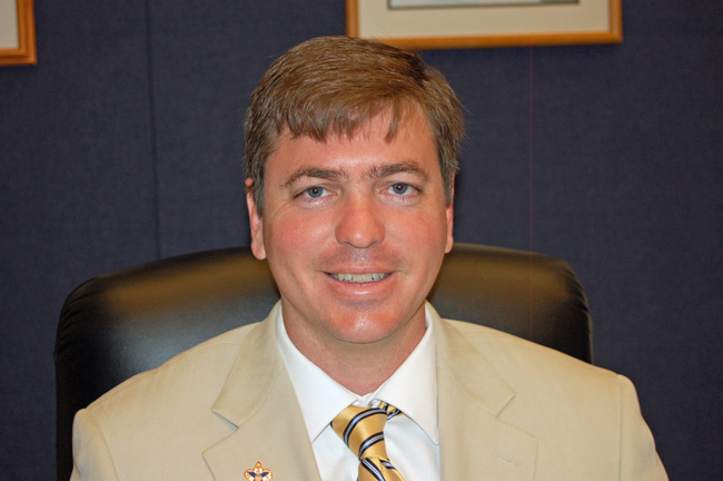 Trevor Tucker is the incumbent for the District 4 seat of the Flagler County School Board. (© FlaglerLive)