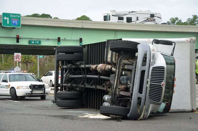 truck overturned palm coast