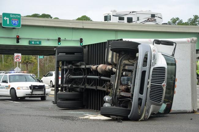 truck overturned palm coast