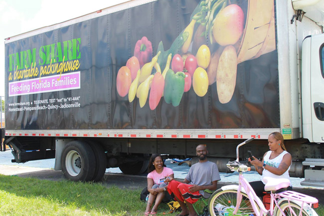 Farm Share's big truck is on its way. (Facebook)