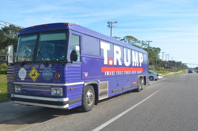 trump trutt bus art gleeson
