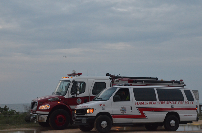 It's twilight for the Flagler Beach Fire Department.
