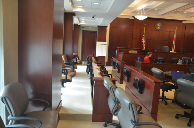 No Flagler County jury has sat for a capital trial in recent memory. If and when it does next, its verdict must be unanimous for the death penalty to carry. (© FlaglerLive)