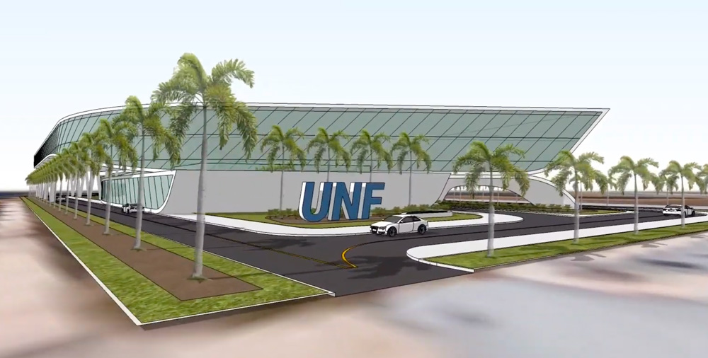 What the University of North Florida's MedNex hub may look like in Palm Coast's Town Center. (© FlaglerLive)