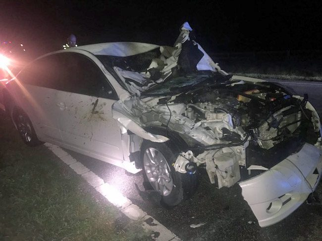 The unmarked Putnam County Sheriff's deputy's car. (FCSO)