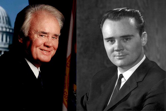 U.S. Rep. C.W. Bill Young, then and now.