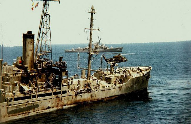 The USS Liberty was attacked by Israeli gunships and jets on June 8, 1967 off the coast of the Sinai Peninsula.
