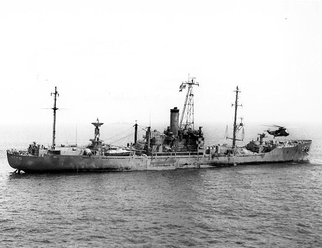 The USS Liberty after the attack. (US Navy)