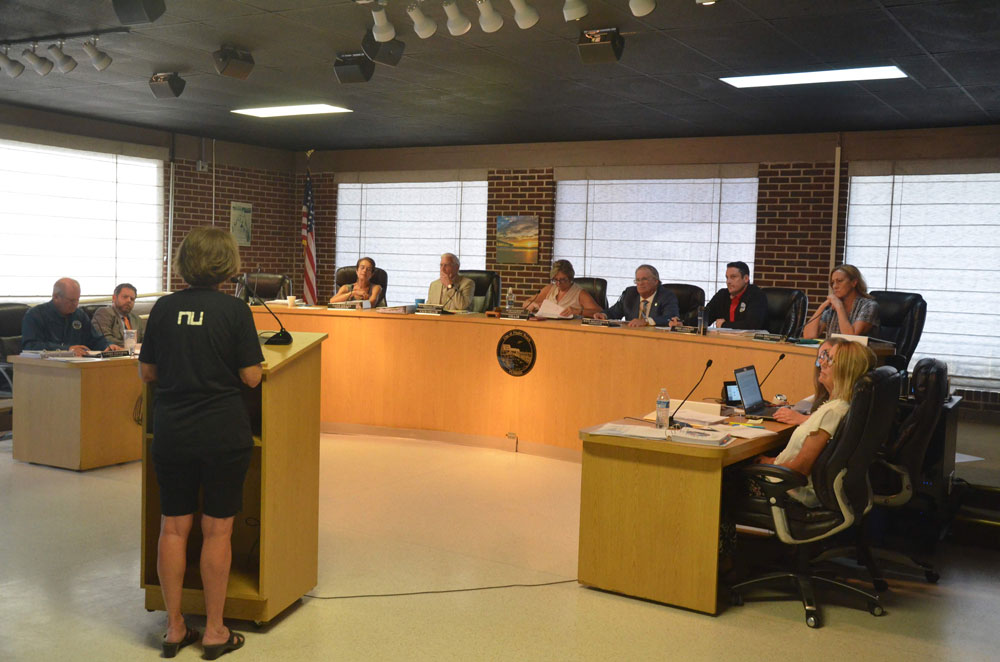 Flagler Beach city commissioners faced much criticism over utility fees when they approved the budget in mid-September. They expect more criticism tonight. (© FlaglerLive)