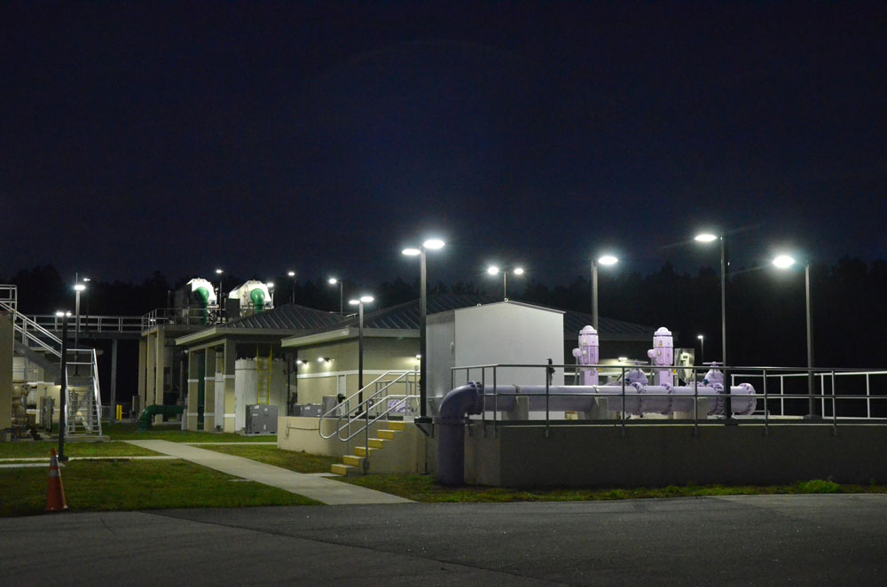 Waste Water Treatment Plant Number 2 at the northwest end of the city. (© FlaglerLive)