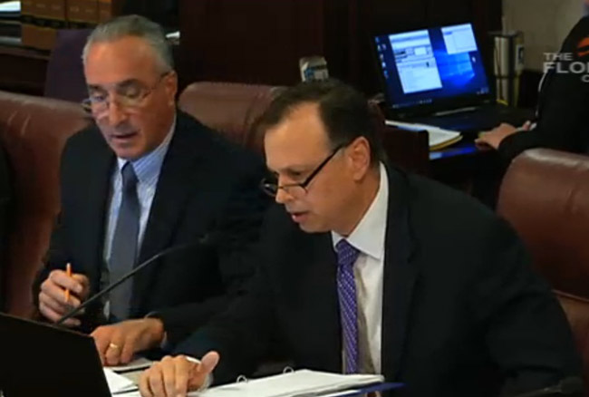 Sen. Tom Lee, who chairs the Community Affairs Committee, ran out of time just as the vacation-rental bill was being heard late this afternoon. (Florida Channel)