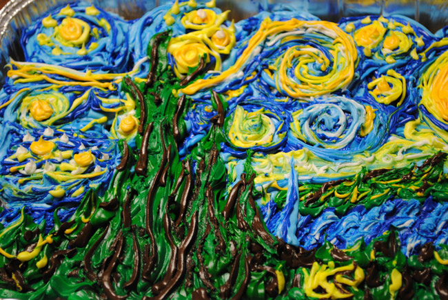 Where van Gogh's starry night and small-business frosting meet. (photolaugher)