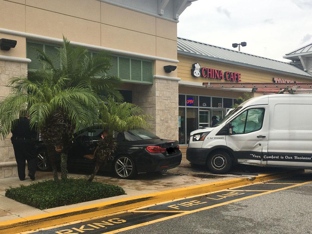 A work van took the brunt of the impact. (FBFD)