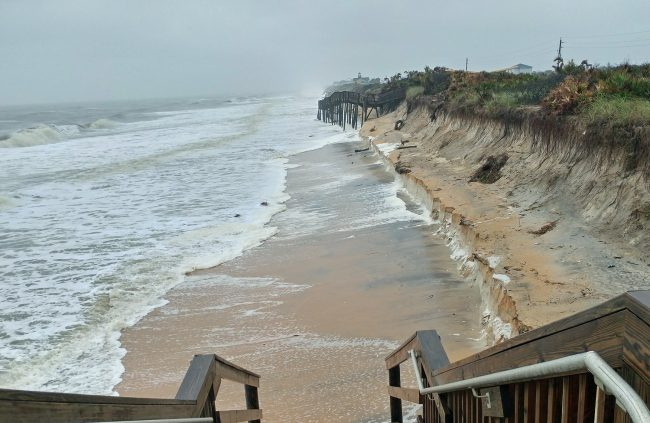 Flagler County Weather Spotter Jeff Majewski captured this image of erosion near Varn Park earlier today. Click on the image for larger view.