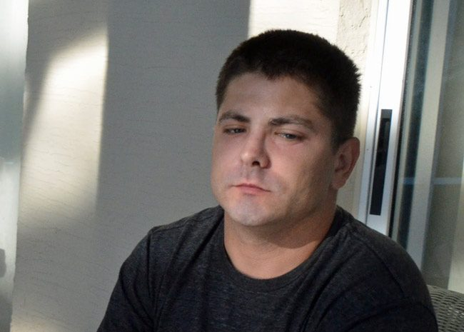 Vassili Mironov had sued the Flagler Beach Police Department for $89,000. He got $6,000. (© FlaglerLive)