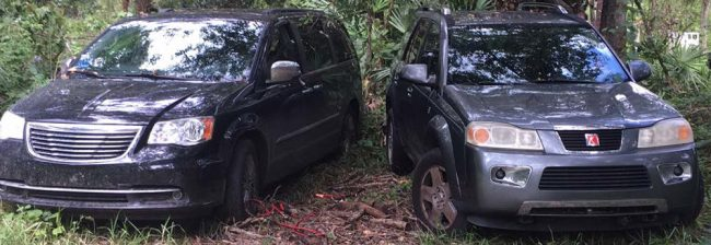 These two vehicles were recovered in Bunnell. (FCSO)