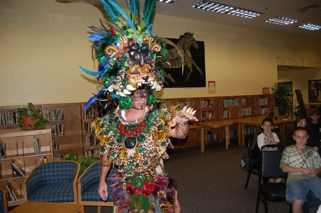 Vernon Orndorff as Middleworld's Lord 6 Dog, back in 2010 when he was principal at Indian Trails Middle School and he was participating in a literary celebration. Click on the image for larger view. (© FlaglerLive)