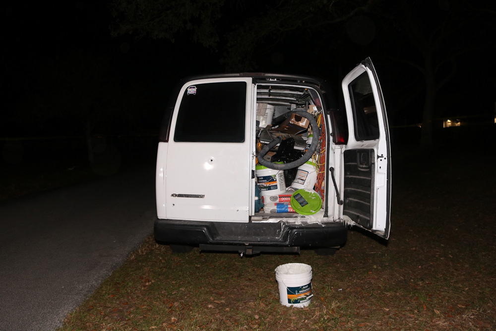 The victim's van, in a picture issued by the sheriff's office.