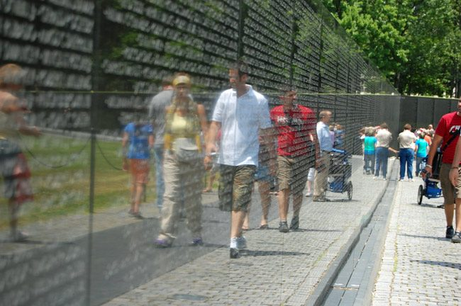 The Vietnam Veterans Memorial. A traveling version of the memorial will be at the Flagler County Airport this week, and will be the focus of Friday's county commemoration of Veterans Day, at 10 a.m. See below. (© FlaglerLive)